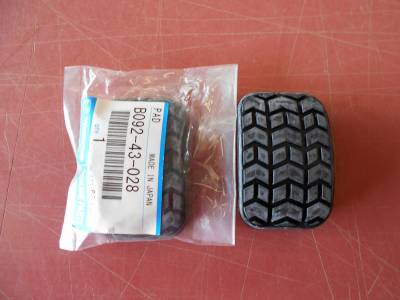 '90 - '05 Miata New Rubber Pedal Pads (pair), B092-43-028 - FREE USPS SHIPPING - Image 1