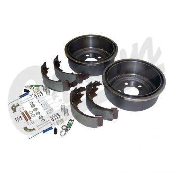 Crown Drum Brake Service Kit (Rear) for Jeep Wrangler (TJ) (3/10/2000-2006) w/ 9 x 2-1/2 Brakes. - Image 1