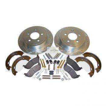 Rt Off-road TJ Performance Brake Kit (Rear Drilled & Slotted) (2003-2006) - Image 1