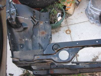 90 - 97 or 99 - 05 Miata full Radiator Support & Unibody - Image 1