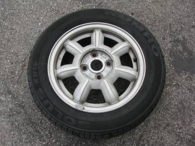 "Set of (4) 14"" by 5.5"" Wheel, Daisy - Image 1"