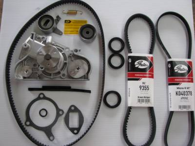 New Miata Parts '90-'97 - Engine & Accessory Components - 1994 - 2000 Premium Miata Timing Belt & Water Pump Replacement Kit (Gates and OEM)
