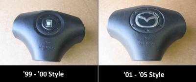 Miata 99-05 - Body, Internal Inc. Seats, Dash, AC, Tops - '99-'05 3-Spoke Steering Wheel Air Bag (Drivers side)