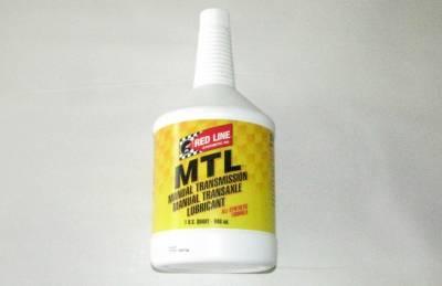 New Miata Parts '90-'97 - Drivetrain, Transmission, and Differential - Red Line MTL SAE 75w80 Miata Manual Transmission Fluid