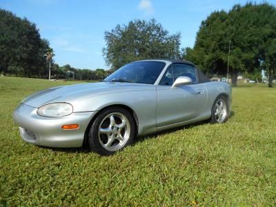 1999 Silver Mazda Miata - Image 1