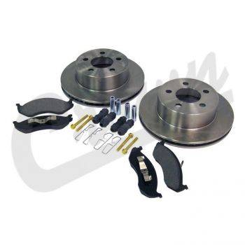 New 1997 - 2006 TJ Jeep Parts - Suspension, Chassis, Steering & Brakes - Crown Disc Brake Service Kit (Front), Jeep Wrangler (TJ) (1999-2006) w/ 1-piece cast rotor