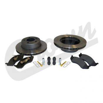 New 1997 - 2006 TJ Jeep Parts - Suspension, Chassis, Steering & Brakes - Crown Disc Brake Service Kit (Front), Jeep Wrangler (TJ) (1997-1999) w/ 2-Piece Composite Rotor