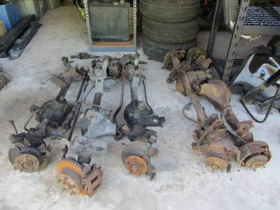 Used 1997 - 2006 TJ Jeep Parts - Suspension, Chassis, Steering Brakes - 97-06 Jeep Wrangler tj axles front and rear (CALL FOR PRICING)