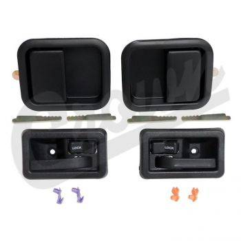 New 1997 - 2006 TJ Jeep Parts - Body, Internal inc. Seats, Dash, A/C & Tops - Door Handle Kit, Full Set in Black, TJ 1997-2006
