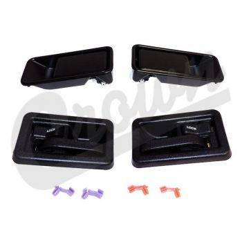 New 1997 - 2006 TJ Jeep Parts - Body, Internal inc. Seats, Dash, A/C & Tops - Door Handle Kit, Full Set, TJ 1997-2006 half doors