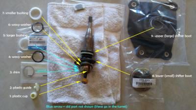 New OEM '90 - '05 5 speed Shifter Full Maintenance Kit - Image 4