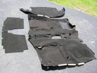 Miata 90-97 - Body, Internal Inc. Seats, Dash, AC, Tops - '90 - '97 Carpet Set, Black